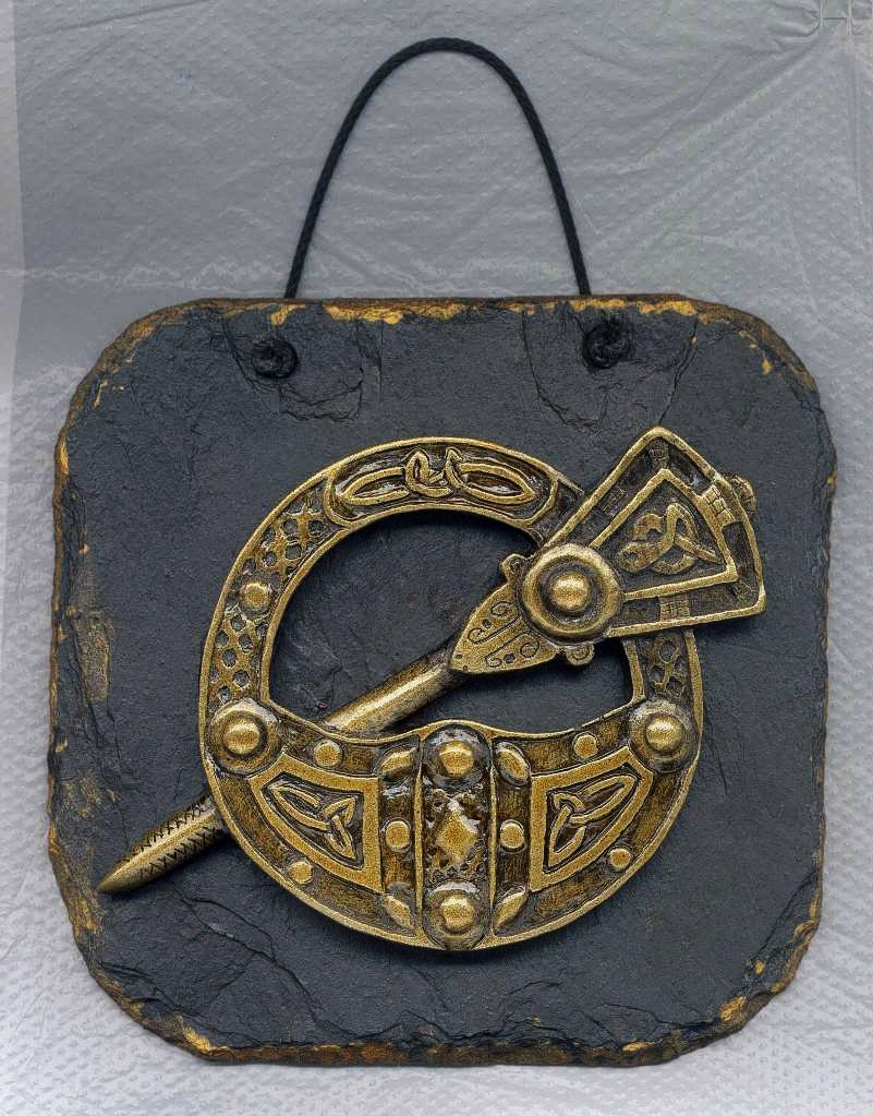 "Irish Slate Plaques from Killyliss Studio - ""Tara Brooch"""